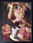 Yongbo Zhao: *Nonna 1*, 1998, Öl/Leinwand, 100 x 80 cm
