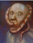 Klaus Ritterbusch: *Ignatius von Loyola*, 2006, Öl/Aluminium, 74 x 60,5 cm