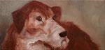 Pavel Feinstein: *N 1015* (Hund), 2005, Öl/Leinwand, 24 x 50 cm