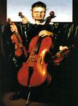 Dietmar Gross: *Quartett*, 1995, Öl/Leinwand, 82 x 60 cm