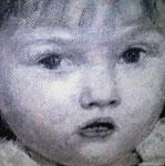 Heike Ruschmeyer: *Porträt Anna*, 2002, Öl/MdF, 60 x 60 cm