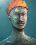 Klaus Ritterbusch: *Loredano (Bellini)*, o.J., Öl/Aluminium, 74 x 60,5 cm
