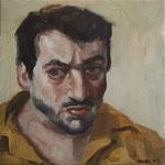 Pavel Feinstein, *N 1128* (Selbstporträt), 2007, Öl/Leinwand, 40 x 40 cm