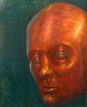 Klaus Ritterbusch: *Seitliches Erstaunen*, 2000, Öl/Aluminium, 74,5 x 61 cm