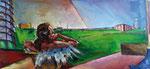 Bettina Moras: *Wenn das Meer in Berlin wäre*, 2011, Öl/Leinwand, 60 x 130 cm