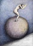 Piotr Kamieniarz: *Kopfsprung*, 2005, Farbige Zeichnung, Tusche/Papier, 38 x 29,8 cm