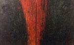 Rainer Wölzl: *Ein Auge offen* (Diptychon), 1992, Öl/Leinwand, jeweils 100 x 80 cm