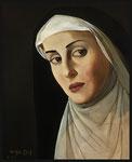 Yongbo Zhao: *Nonne*, 2004, Öl/Leinwand, 60 x 50 cm