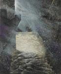 """Klaus Ritterbusch: *Die Jauche* (Aus dem Zyklus """"Im Reich der Schatten""""), 1990, Mischtechnik/Leinwand, 60 x 50 cm"""