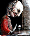 Piotr Kamieniarz: *Kain II*, 2015, Acryl/Papier, 36 x 29 cm