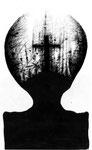 Piotr Kamieniarz: *Inkwizytor*, 2015, Tusche, Feder/Papier, 34 x 22 cm