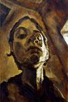 Bettina Moras: *Selbstbraun*, 2007, Öl/Leinwand, 60 x 40 cm