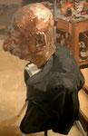 Johannes Grützke: *Kunert in Bronze mit Jacke*, 2006, Öl/Leinwand, 60 x 40 cm