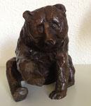 Pavel Feinstein: *Bär*, 2010, Bronze, 18,5 x 17,5 cm