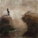 Pavel Feinstein: *N 1696* (Manneken Pis), 2013, Tempera/Holz, 50 x 50 cm