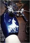 Airbrush auf Motorradtank
