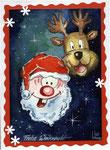 Weihnachtskarte, Aquarell