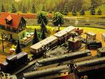 Blick auf den Rangierbahnhof in Neuefen