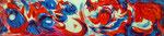 Steph Hardy:  o. T., 2012, Acryl auf Hartfaserplatte, 49 x 11 cm