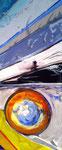 Steph Hardy: Kalte Sonne, 2011, 26 x 12, Mischtechnik auf MDF