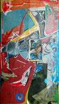 Steph Hardy: o.T., 2011, Mischtechnik auf Papier und Klebeband