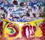 Steph Hardy: o.T.,2013, Mischtechnik auf Papier, 23 x 23 cm