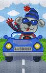 Ours dans auto