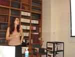 Naira Rezende presents her research Aug. 2, 2012