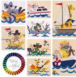 Tiere auf Schiff