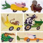 Tiere mit Fahrzeuge 2