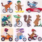 Tiere mit Fahrzeuge 1