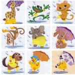 Tiere im Regen