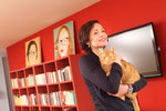 Gabriela Amgarten mit Katze