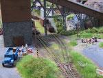 Blick auf die Verladeanlage aus Richtung Hermsdorf