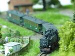 """Sächsischer Personenzug am Abzweig """"Neißebrücke"""""""