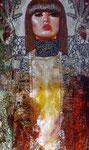 """Judith & Holofernes IV ©2014, Acrylic on Canvas, Dimensions 36"""" w x 60"""" h"""