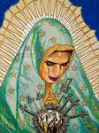 "El Tepeyac de Los Angeles Pieta ©2020,  Acrylic on Canvas, Dimensions 30"" w x 40"" h"