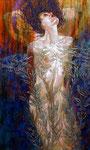 "Mermaids I ©2014,  Acrylic on Canvas, Dimensions 36"" w x 60"" h"