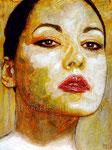 """Portrait of Sylwia Gorak ©2015, Acrylic on Canvas, Dimensions 18"""" w x 24"""" h"""