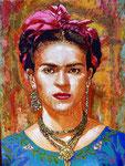 """Frida ©2019,  Acrylic on Canvas, Dimensions 24"""" w x 18"""" h"""