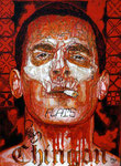 "Shotgun Messenger, Portrait of Josh Brolin ©2014, Acrylic on Canvas, Dimensions 18"" w x 24"" h, Private Collection"