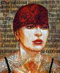 "Frida: ""A Toda Madre"" ©2013, Acrylic on Canvas, Dimensions 18"" w x 24"" h"