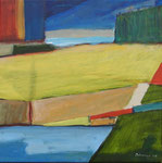 Abstract Aubeterre, 2005. 23 x 23 in. Acrylic paint on canvas. #05PA110L