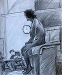 Emmanuel Study, 2003. 14 x 17 in. Pencil on paper.#03D025SL
