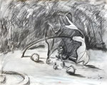 Outdoor Theater, 2005. 24 x 19 in. Pencil wash on paper. #05D003L