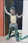Keenan at Four, 2005. 24 x 36 in. Oil paint on canvas. #05PA098P