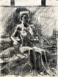 Life Drawing, Swain School of Design, 1978. 18 x 24 in. Charcoal on paper. #78D004F