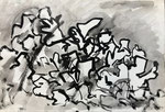 The Fall of the Wall, 1989. 17.5 x 12 in. Ink wash on paper. #89D009F