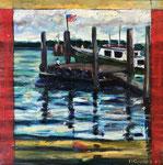 Sandwich Pier, 2002. 15.75 x 16.25 in. Oil paint on birch. #02PA023L
