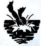Frog Logo 3, 1980. 10 x 12 in. Stat camera. #80PM019D